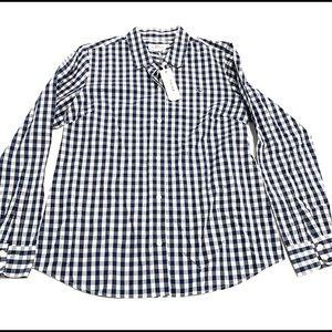 Vineyard Vines Women's Blue White Checkered Shirt